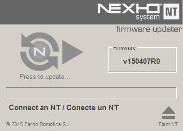 Firmware Updater screen Init