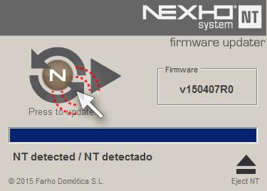 Firmware Updater screen